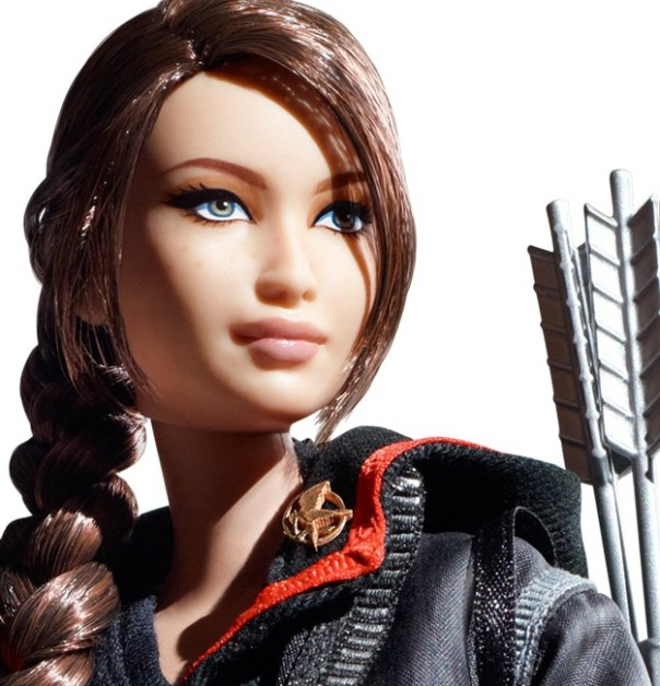Katniss Everdeen doll by Mattel: detail. Via Barbiecollector.com