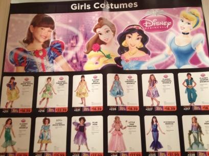 Classic Disney Princess costumes