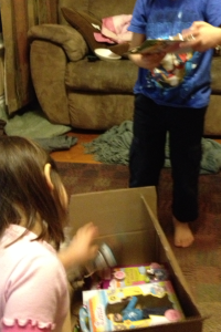 A box full of Lottie toys