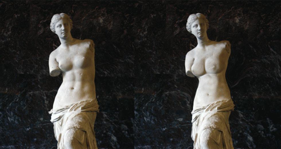 Venus de Milo, retouched