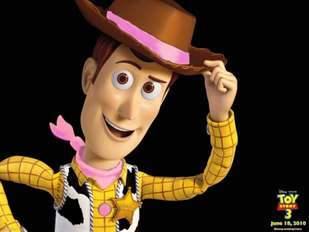 Woody from Toy Story with pink bandana