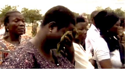 Nigerian families grieve