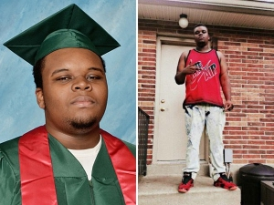 Two contrasting images of Mike Brown