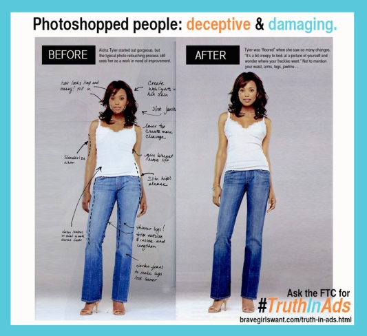 Photoshoped people: deceptive and damaging