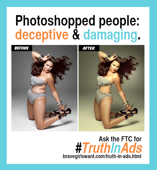 Photoshopped people: deceptive and damaging