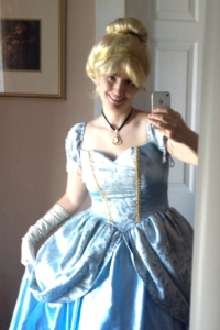 The author as Cinderella.  ©Rebecca Hains.