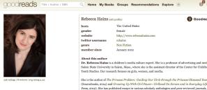 Rebecca Hains on Goodreads