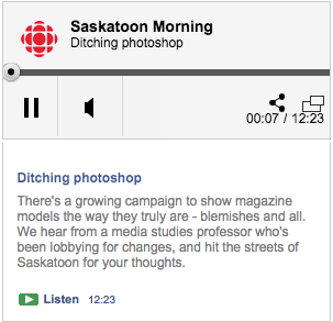 CBC Radio interview on Ditching Photoshop with Rebecca Hains