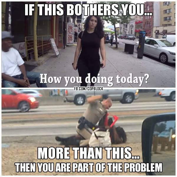 ...then you are part of the problem